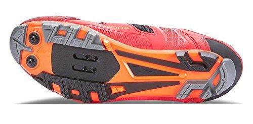 Diadora X Vortex Racer II, Chaussures de VTT Mixte Adulte Multicolore - Mehrfarbig (RACING RED/Fluo Red 6536)