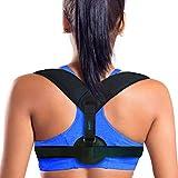 Back Posture Corrector, LOVNE Adjustable Posture Support Clavicle Brace Strap for Kids Women