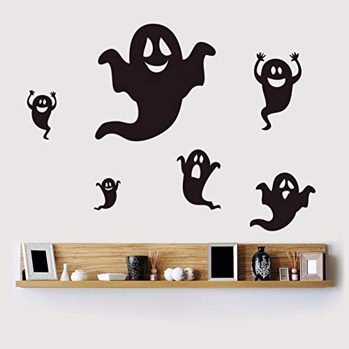 geist halloween wandaufkleber für wohnzimmer party dekoration vinyl wasserdicht diy kunst aufkleber schwarz ()