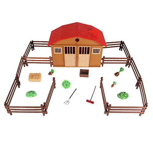 Monland Simuliertes Sand Tabellen Szenen Modell des Bauernhof Ranch Haus Spielzeug Set Kinder Intelligenz Spielzeug Modells - Bauernhof-tabelle