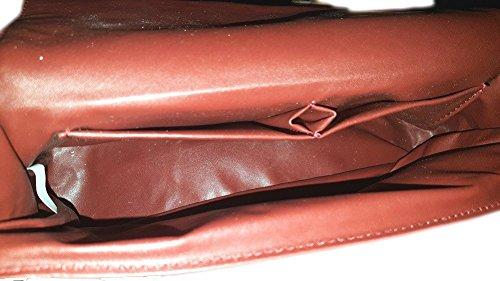 Borsa a tracolla metallica a croce - 0011 (Rosso) Rosso