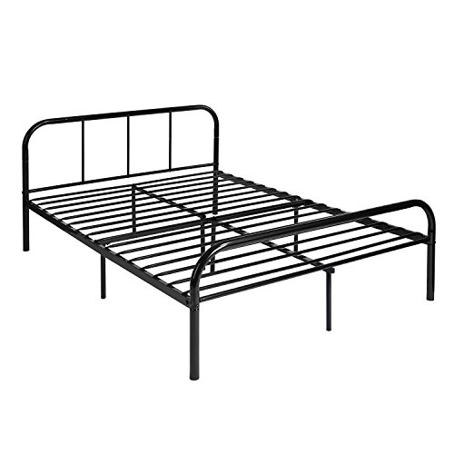 DORAFAIR Marco Cama Doble Metal Estructura 4ft 6 Doble