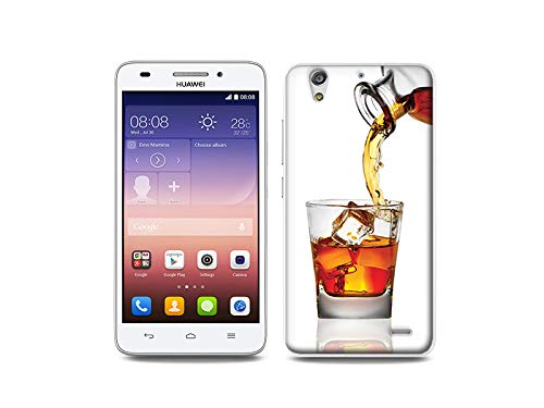 etuo Handyhülle für Huawei Ascend G620s - Hülle, Silikon, Gummi Schutzhülle - Whisky