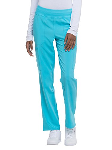 Dickies EDS Essentials by Women's Knit Waistband Scrub Pant Medium Petite Turquoise