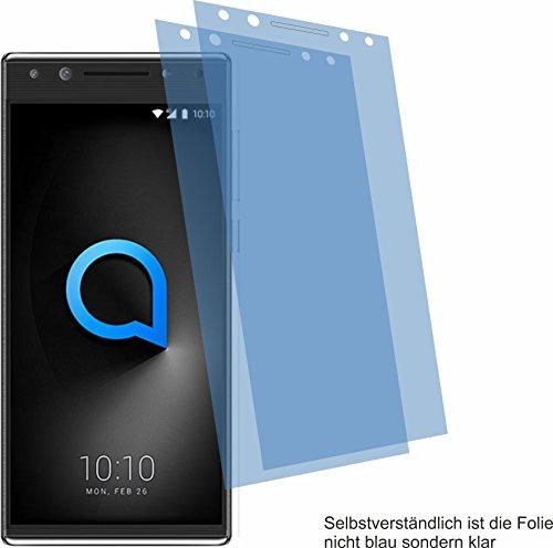 4ProTec 2X Crystal Clear klar Schutzfolie für Alcatel 5 Bildschirmschutzfolie Displayschutzfolie Schutzhülle Bildschirmschutz Bildschirmfolie Folie