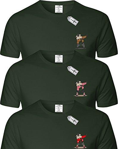 Eat Sleep Shop Repeat Herren T-Shirt CHARCOAL x 3