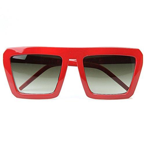 Kiss Sonnenbrille OLD SCHOOL mod. SMOOTH - mann frau FLAT TOP vintage rapper FREESTYLE - ROT