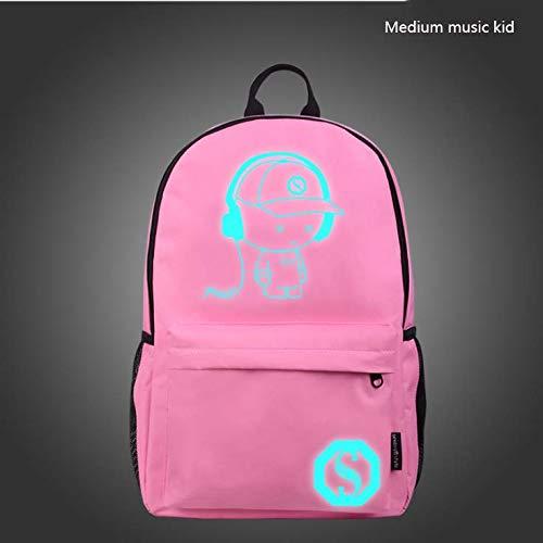 CE-LXYYD Computertaschenmittelschülertasche, männlicher leuchtender Rucksack im Freien,5 - Energie Fünf Stunden