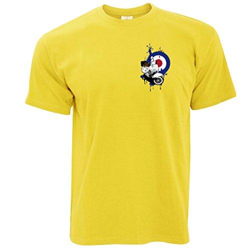 Retro Roller Moped Herren T-Shirt Yellow