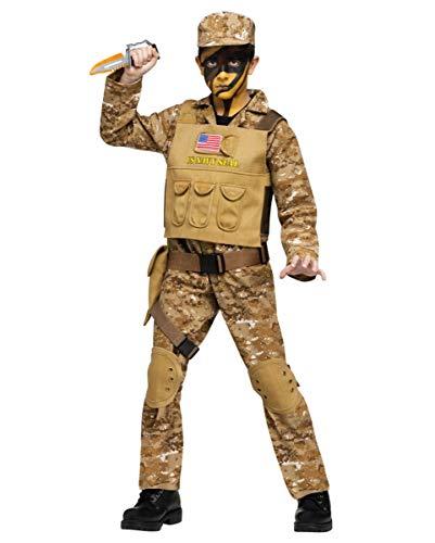 Horror-Shop Navy Seal Kinderkostüm für Halloween, Fasching & Karneval M (Kostüm Seal Navy Kinder)
