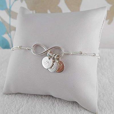 Bracelet infini argent 3 initiales