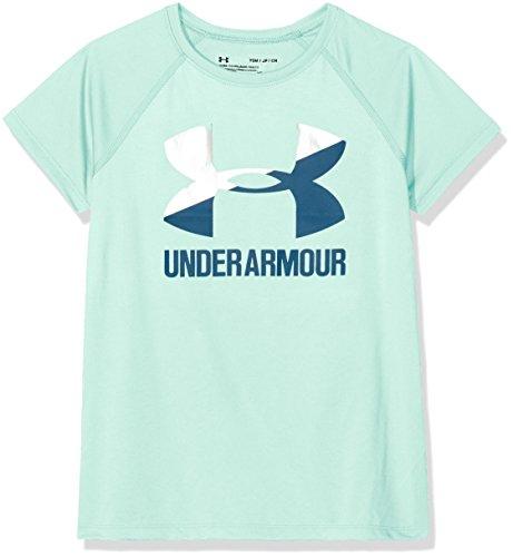 Under Armour Mädchen UA Solid Big Logo Ss T Kurzarmshirt, Refresh Mint, L