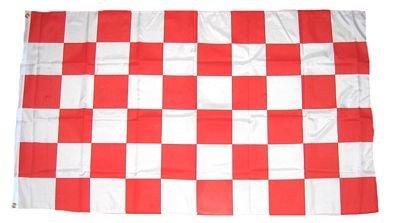 Fahne / Flagge Karo rot / weiß NEU 90 x 150 cm Flaggen