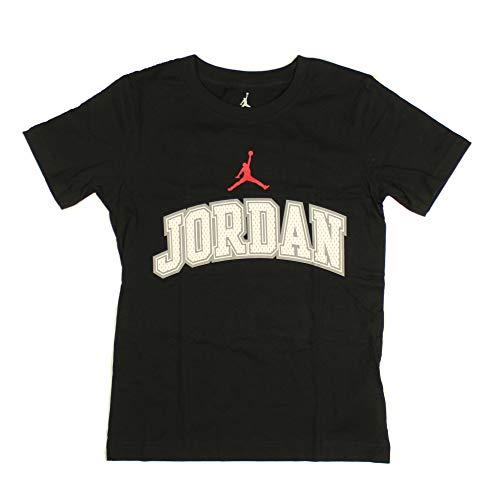 Nike Jungen Air Jordan T-Shirt Gr. Medium, Black with White/Gray Jordan/Red Logo