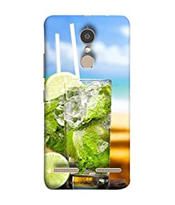Fuson Designer Back Case Cover for Lenovo K6 Power (Soda Lime Greenary Holiday Sip Couple Friends Young)
