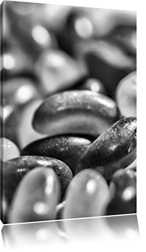 Monocrome, confiserie Belly Beans Jelly, Format: 120x80 sur toile, XXL énormes photos complètement encadrée avec civière, imprimé Art mural avec cadre moins cher que la peinture ou la peinture à l'huile, pas poster ou une affiche