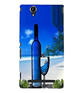 Fuson Premium Back Case Cover Stylish bottle With Yellow Background Degined For Sony Xperia T2 Ultra::Sony Xperia T2 Ultra Dual