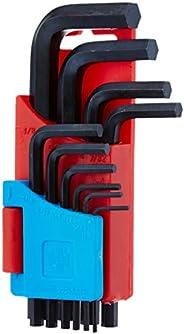 Taparia KHI-10V Steel Allen Key Set (Black Finish, Hanger Packing, Pack of 10)