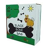 Black Bone Bag - Hundekotbeutel mit Beutelspender und Leinenclip, Packung mit 400 Stück (400 + 1 Dispenser)