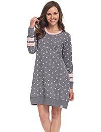 dn-nightwear Damen Nachthemd ELISA / langarm