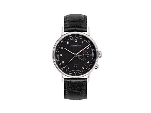 Junkers Men's Quartz Watch with Black Dial Analogue Display Quartz Leather 67342