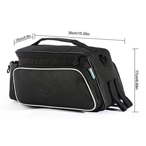 ROSWHEEL–Fahrradtasche Multifunktions für Rücksitz, Fassungsvermögen von 6200) schwarz