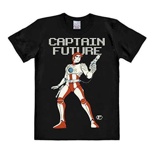 Logoshirt Science-Fiction - Captain Future T-Shirt Herren - schwarz - Lizenziertes Originaldesign, Größe 3XL