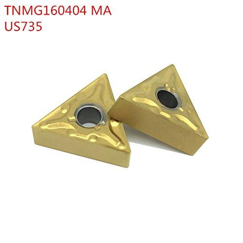 10pcs tnmg160404 ma us735 externe drehwerkzeuge carbide einfädeln fügt schneidwerkzeug - cnc - tools die werkzeuge die cutter (Mini Drehbank-schneidwerkzeuge)