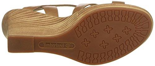 Timberland Cassanna Y-strap Sandaltan Eastlook, Sandales Compensées Femme Vert (tan Eastlook)