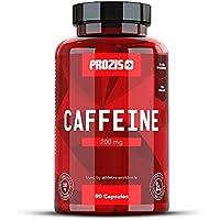 Prozis Caffeine 200mg 90 Caps - Complemento para Estimular la Concentración, los Niveles de Energía