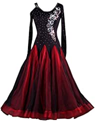b67cf8d9b2982a YC gut Frauen Standard Ballroom Dance Wettbewerb Kleider Offene Schulter  Strass Dancing Costumes Expansion Rock für