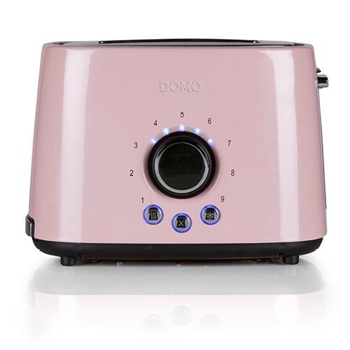 Domo DO 952 T Toaster Acier Couleur Rose
