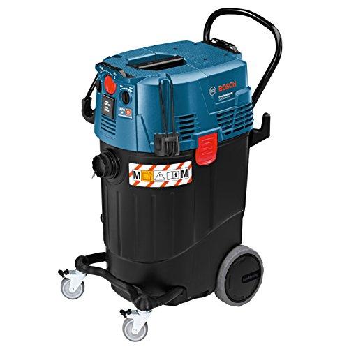Bosch Professional GAS 55 M AFC - Aspirador seco/húmedo (1380 W, capacidad 55 l, clase polvo M, 254 mbar, manguera antiestática)