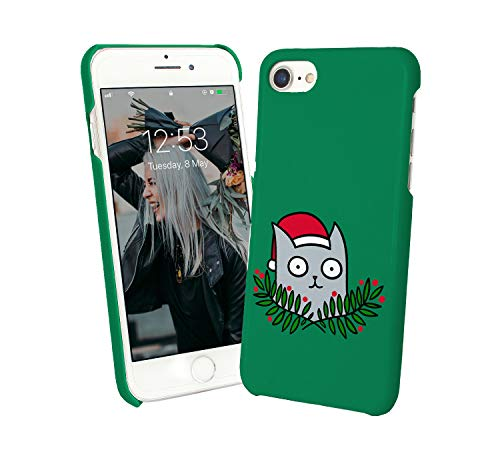 Cat Christmas Kitty Santa Claus_010168 Protective Phone Mobile Smartphone Case Cover Hard Plastic for Huawei P9l Lite Funny Gift Christmas -