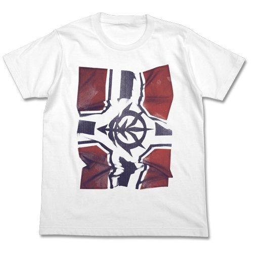 Mobile Suit Gundam Zeon battle flag photo print T-shirt White Size: XL (japan import)