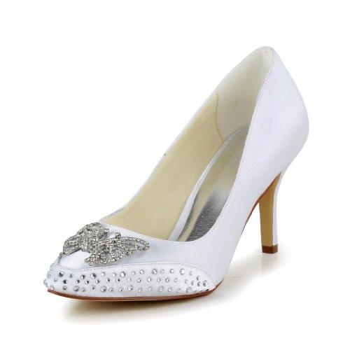 Jia Jia Wedding 8390B2A chaussures de mariée mariage Escarpins pour femme Blanc