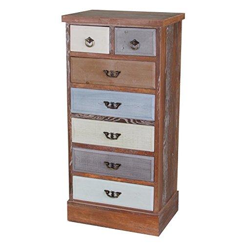 Buri Kommode Vintage Shabby Schubladenregal Holzschrank Schubladenschrank Sideboard