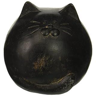 Abbott Collection Antique Round Ball Cat, Black