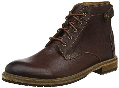 Clarks Herren Clarkdale Bud Klassische Stiefel, Braun (Mahogany Leather-), 47 EU