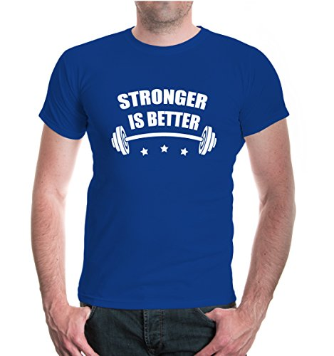 buXsbaum® T-Shirt Stronger is better Royal-White