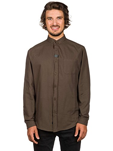 Globe Shirts - Globe Goodstock Oxford Shirt - Black Dark Olive