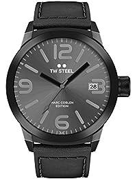 TW Steel Marc Coblen Edition mit Lederband 50 MM Grey Sunray/Black TWMC53