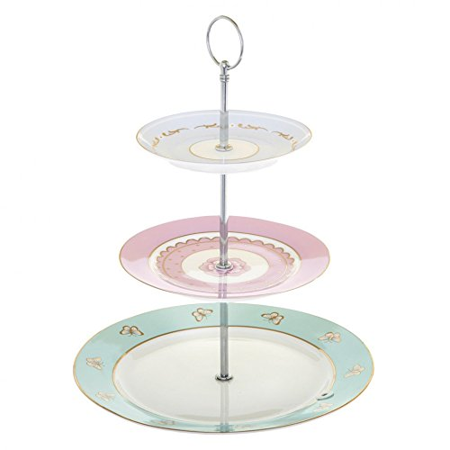 Bombay Duck Miss Darcy Hotchpotch Vintage 3 Tier Cake Cup Cake Stand