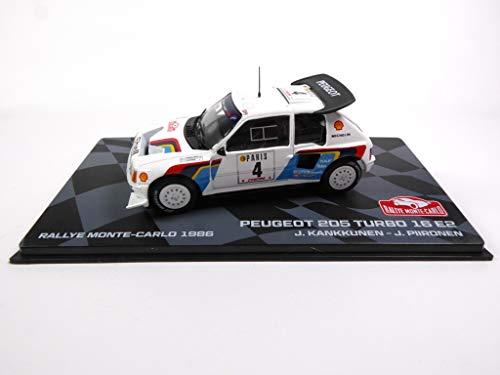 Eaglemoss Peugeot 205 Turbo 16 E2 1986 Kankkunen (BR7)