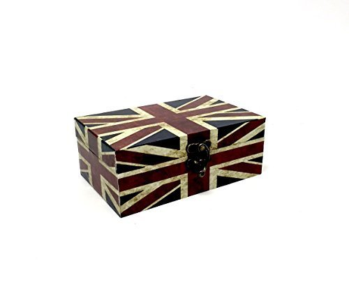 Motif Union Jack Vintage Keepsake Boîte à souvenir.
