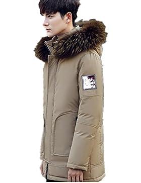 MHGAO Abajo cubren la manera del invierno de los hombres ocasionales largos de la capa , khaki , l