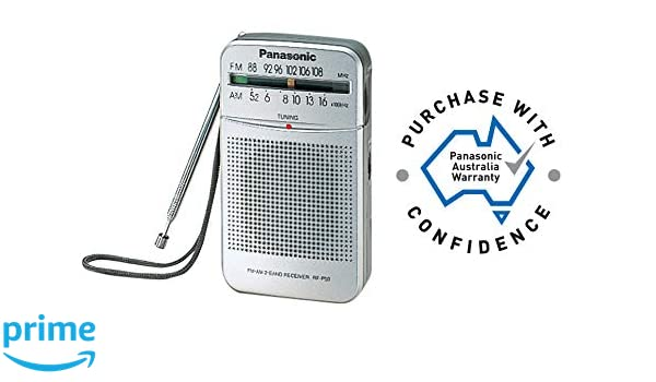 Radio Port/átil, Digital, Am,FM, 87-108 MHz, 520-1730 kHz, 0,15 W Panasonic RF-P50DEJ