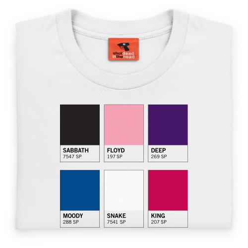 Band Pantone T-Shirt, Herren Wei
