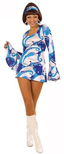 Generique - Costume disco donna blu L