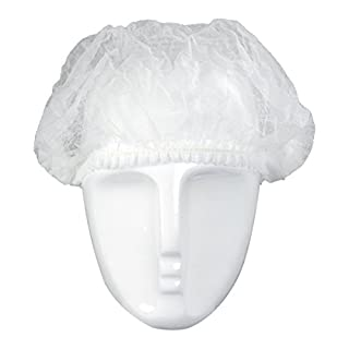 100 Kopfhauben Barett weiß 52 cm Haarnetz Kochmütze Netzhaube Küchenhaube